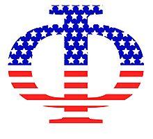 Phi Symbol American Flag Design Photographic Print