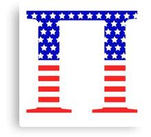 Pi Symbol American Flag Design Canvas Print
