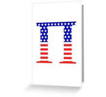 Pi Symbol American Flag Design Greeting Card
