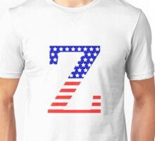 Zeta Symbol American Flag Design Unisex T-Shirt