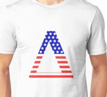 Delta Symbol American Flag Design Unisex T-Shirt