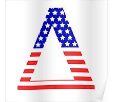 Delta Symbol American Flag Design Poster