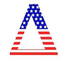 Delta Symbol American Flag Design Photographic Print