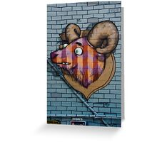 Ram mural graffity on the textured wall Greeting Card
