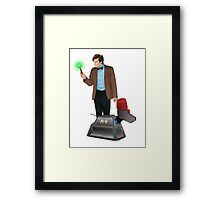 The 11th Doctor and K-9 Framed Print