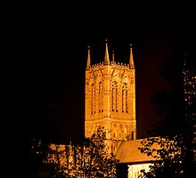 Lincoln Cathedral at night. by John Morris