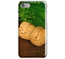 Champagne cork iPhone Case/Skin