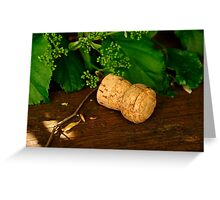 Champagne cork Greeting Card