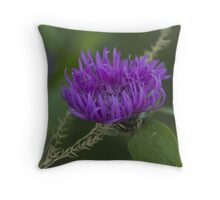 blue flower in spring Throw Pillow