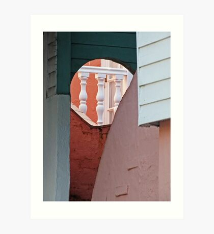 Through the arch, up the steps,along the balcony, theres the door Art Print