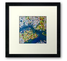 Imaginary map of New York Framed Print