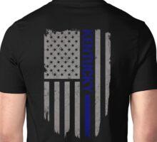 Kentucky Thin Blue Line American Flag T-Shirt Unisex T-Shirt