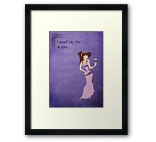 Hercules inspired design (Meg). Framed Print