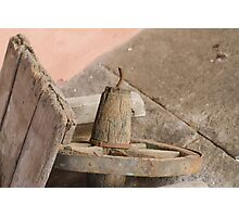 old wooden wheelbarrow Photographic Print