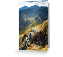 Mountain range with selective focus Greeting Card