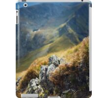 Mountain range with selective focus iPad Case/Skin