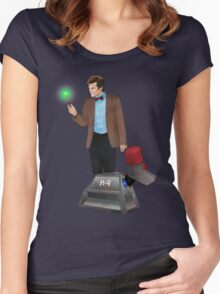 The 11th Doctor and K-9 Women's Fitted Scoop T-Shirt