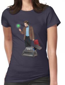 The 11th Doctor and K-9 Womens Fitted T-Shirt