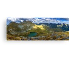High resolution panorama of mountains Canvas Print