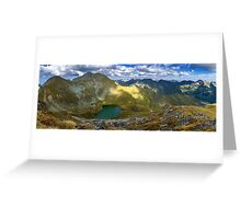 High resolution panorama of mountains Greeting Card
