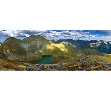 High resolution panorama of mountains Photographic Print