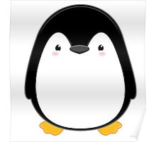 Cute Kawaii Penguin Poster
