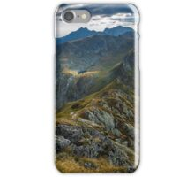High resolution panorama of aerial view of Balea Lake iPhone Case/Skin