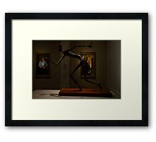 "Political cartoonist Pat Oliphant's sculpture, ""George Bush."" Framed Print"