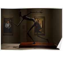 "Political cartoonist Pat Oliphant's sculpture, ""George Bush."" Poster"
