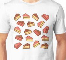 Pink Cake Pattern Unisex T-Shirt