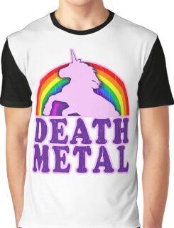 Death Metal Unicorn Graphic T-Shirt