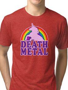 Death Metal Unicorn Tri-blend T-Shirt