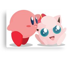 """Kirby and Jigglypuff """"Best Buds"""" Vector Metal Print"""