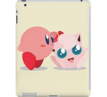 "Kirby and Jigglypuff ""Best Buds"" Vector iPad Case/Skin"
