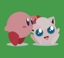 """Kirby and Jigglypuff """"Best Buds"""" Vector Kids Clothes"""