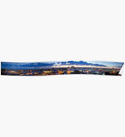Newport Beach City Landscape Panorama  Poster