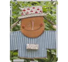 Scarecrow in garden iPad Case/Skin