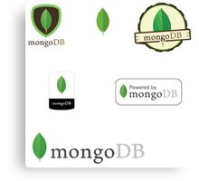 mongodb mongo database sticker set Canvas Print