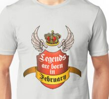 Legends February Unisex T-Shirt