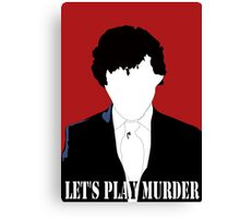 BBC Sherlock: Let's Play Murder Silhouette bloodred Canvas Print