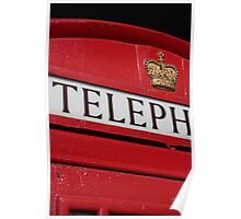 london red phone booth Poster