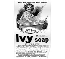 1894 Ivy Soap Advertisement Poster