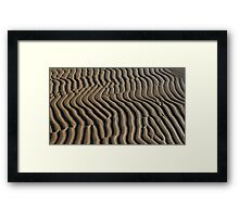 sand abstract pattern  Framed Print