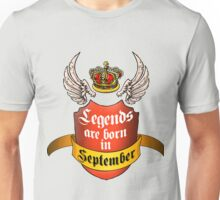 Legends September Unisex T-Shirt