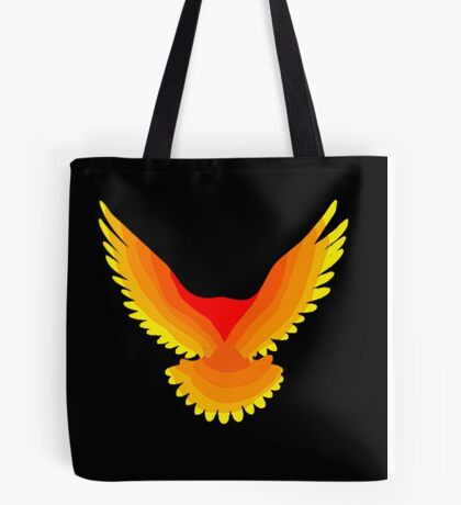 Phoenix : Fire Bird Flame Minimalist Mythology Design Tote Bag