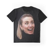 Hillary Clinton Surprise (black) Graphic T-Shirt