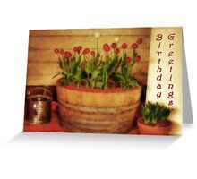 Potted Tulips Greeting Card