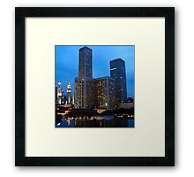 Evening in the City Framed Print