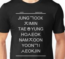 BTS Ver. White Unisex T-Shirt