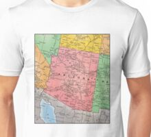Vintage 1939 Arizona map - gift for her - gift for him - gift for parent - special memorial gift idea Unisex T-Shirt